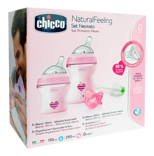 Chicco Set Primeros Meses Natural Feeling Niña