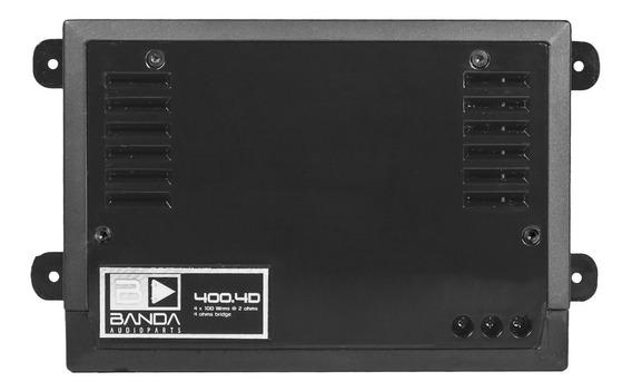Módulo Amplificador Banda 400.4 2.4d Preto 400 Wrms