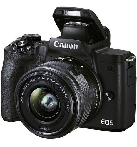 Imagem 1 de 9 de Câmera Canon Mirrorless Eos M50 Mark Ii + 15-45mm Is Stm