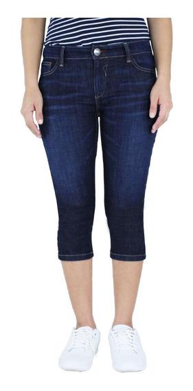 Pantalón Capri De Mujer Mezclilla Skinny Fit. Estilo 1339
