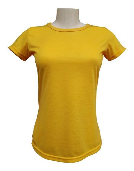 10 Baby Look Amarela Blusa 100% Poliéster Para Sublimação Atacado