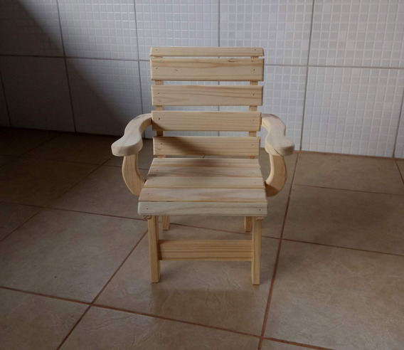 Cadeira Infantil Com Braço - Pinus - Unidade* Cod.06
