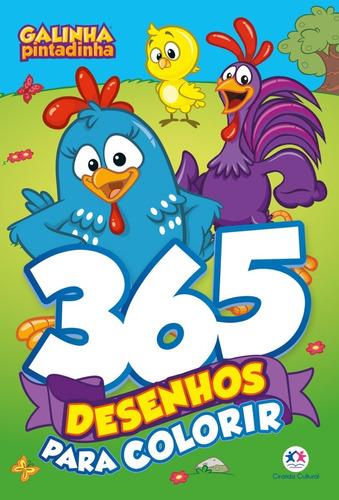 Imagem 1 de 3 de Livro Infantil 365 Desenhos Para Colorir Galinha Pintadinha