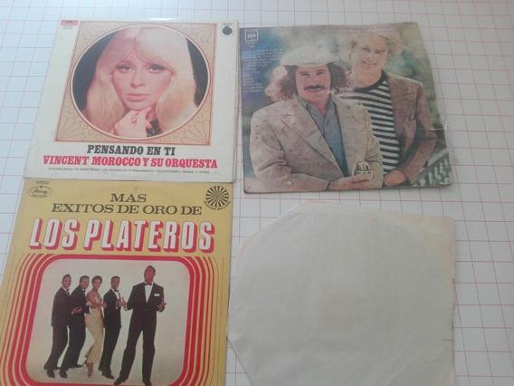 Lote De 4 Discos De Vinilo Música Internacional D015