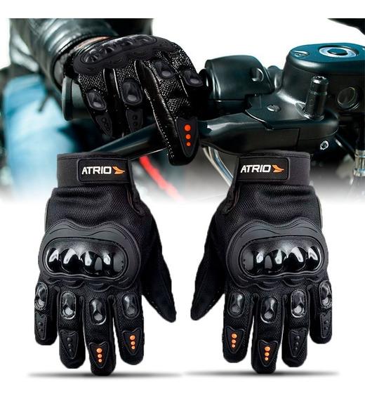 Luva Motociclista Motoqueiro Frio Forrada Proteção Raptor