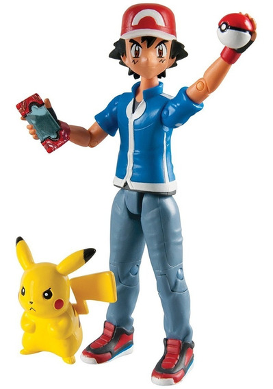 Ash & Pikachu Figura D Ação12cm Pokémon Nintendo Tomy T18516