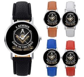 Relógio Maçonaria Maçônico Maçom Esquadro E Compasso Gadu