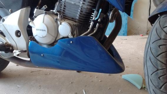 Spoiler E Protetor De Tanque Para Twister, No Preto Fosco.