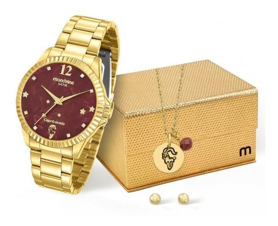Kit Relógio Mondaine Feminino Capricórnio - 99128lpmkde8k1