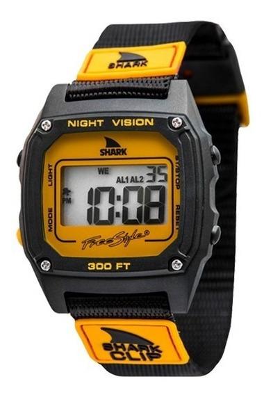 Relógio Freestyle Shark Clip - Black/orange