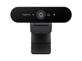 Web Cam Logitech Brio 4k Ultra Hd Nfe Vídeo Confer. + Tripé
