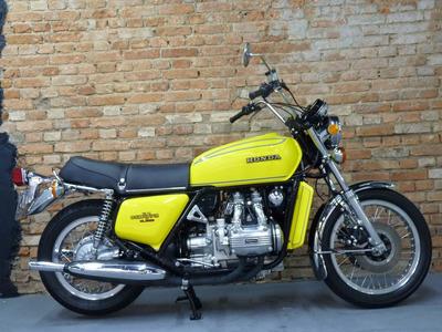 Honda Gl 1000 Gold Wing - 1976 - Placa Preta De Colecionador