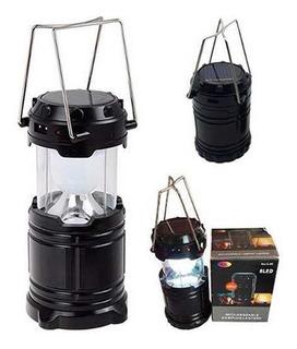 Lampião Led Luminária Solar Retrátil Recarregável Bivolt Usb