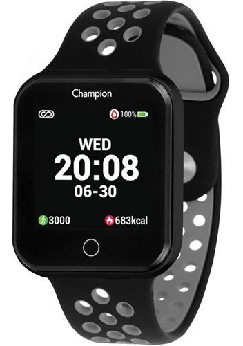 Relogio Smart Watch Champion Unissex Ch50006d Preto C/ Preto