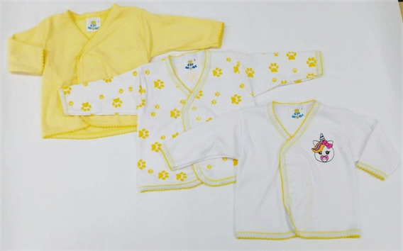 Set De 3 Camiseta Interior Niño Niña Unisex Bebe Manga Larga