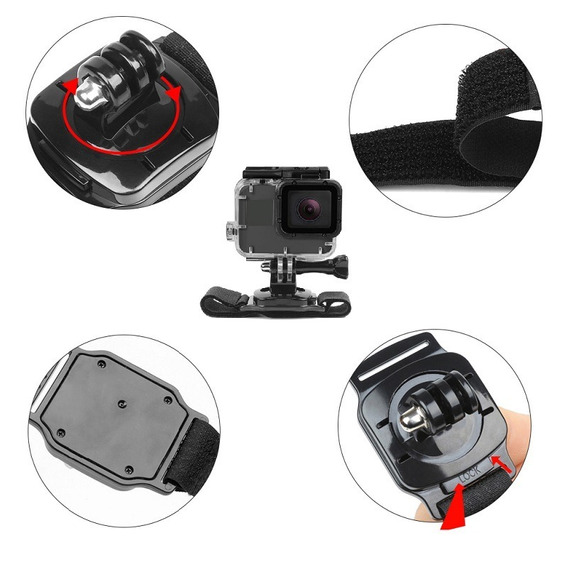 Suporte Pulso 360 Graus Go Pro Hero Gopro 3/4/5/6 Session