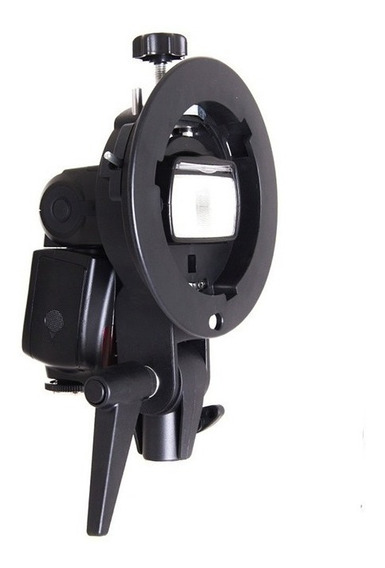 Suporte Flash Dedicado Speedlite Softbox Bowens Godox S-type