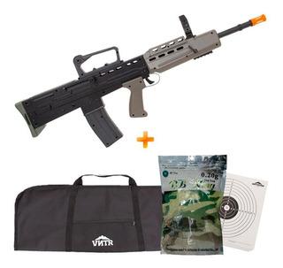 Rifle Airsoft Spring Promoção L85a1 + 5000bbs + Alvo + Capa