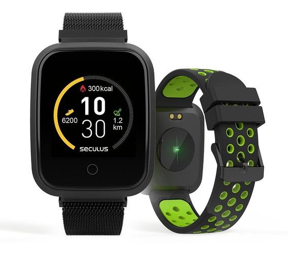 Relógio Smartwatch Seculos Troca Pulseira Preto