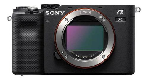 Sony Alpha 7C compacta color  negro