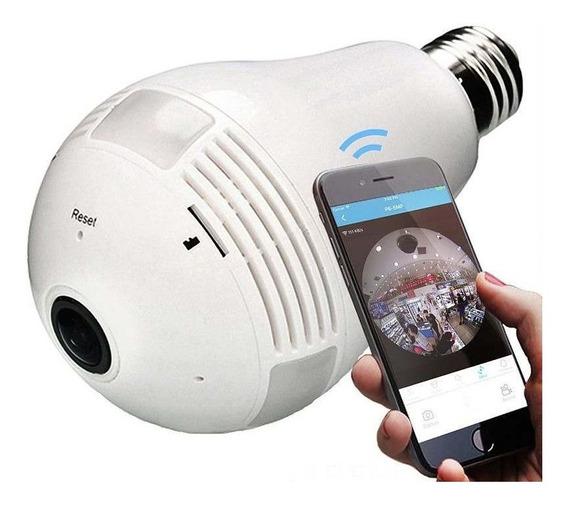 Câmera Iphardfast Wifi Lâmpada E27 Áudio Hd 360 Noite Hf01