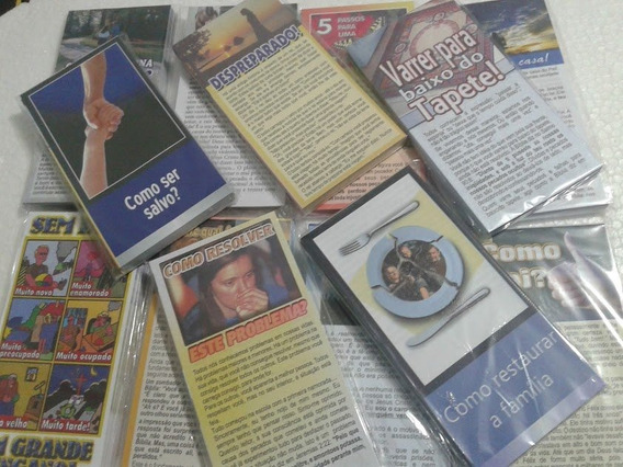Folhetos P/ Evangelismo Temas Variados 2000 Unidades