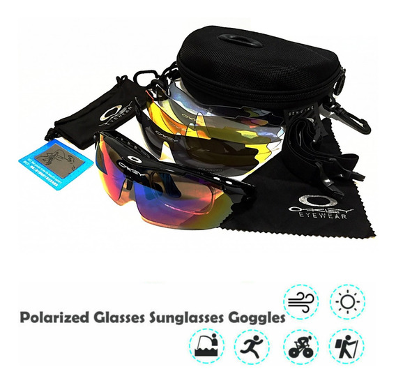 Gafas Tipo Oakley Polarizadas Deportivas Kit Intercambiable