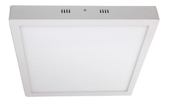 Plafon Quadrado Sobrepor Lampada Led 25w Branco Frio Decorativo Luminária De Teto