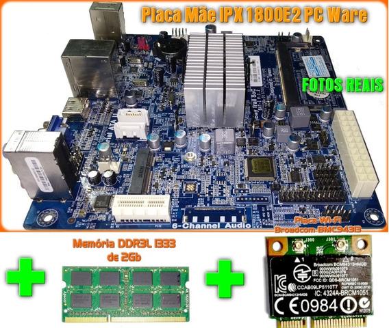 Placa Mãe Celeron Dual Core Ipx1800e2 + 2gb Ddr3 + Wi-fi