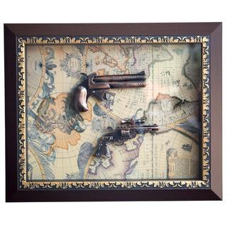 Quadro Armas Replica Decorativa De Madeira E Vidro Modelo E