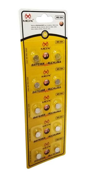 Cartela C/10 Bateria Alcalina Mox 15v Mo-364 Lr621