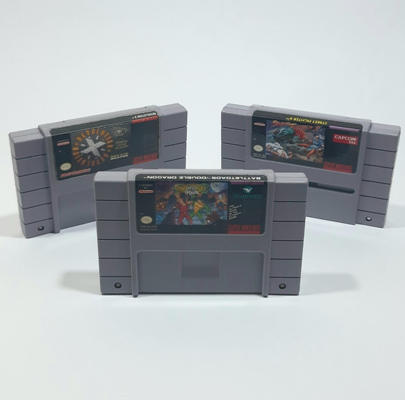 Lote Battletoads Double+ Street Fighter 2+ Revolution X Snes