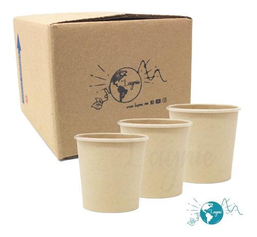 Lagnie 50 Vasos Bambú Biodegradables 4 Oz, 118 Mililitros