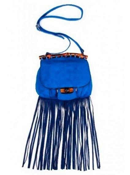 Bolsa Pequena Franjas Alça Bambu - Com Garantia