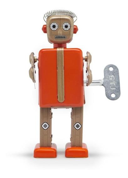 Robot A Cuerda De Hojalata Retro Tin Toy Proton Gato