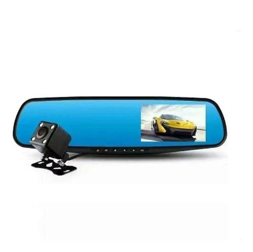 Imagen 1 de 4 de Cámara Doble Para Auto Dashcam Espejo Con Reversa - Testigo
