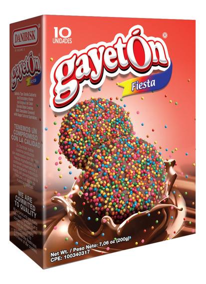 Caja 200g Galletas Gayetón Fiesta De Chocolate Por Bulto