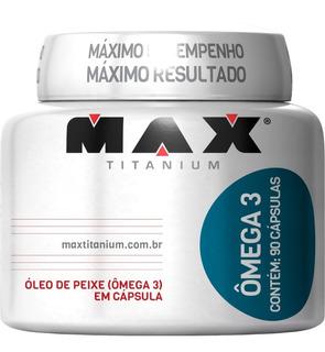 Omega 3 - 90 Capsulas - Max Titanium