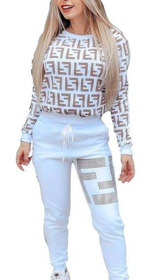 Conjunto Moda Blogueira Lindo Moletom Feminino Barato Luxo