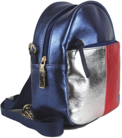 Mochila Pequena Tommy Hilfiger Azul Bolsa Eua 12x S/ Juros