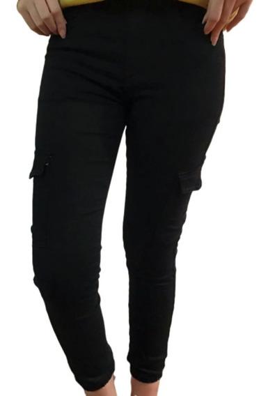 Pantalon Chupin Cargo Gabardina Elastizado Talles Espaciales