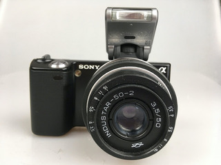 Camara Sony Nex 5 Con Lente 50mm F3.5 Analogo