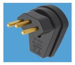 Plug Macho 3 Pinos 10 Amperes Kit C/ 02 Pçs Tomada Eletrica