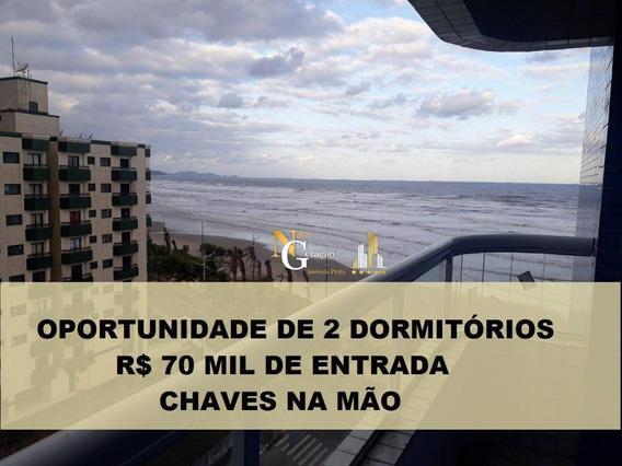 Apartamento Com 2 Dormitórios À Venda, Por R$ 70 Mil De Entrada Chaves Na Mão - Praia Grande/sp - Ap2370