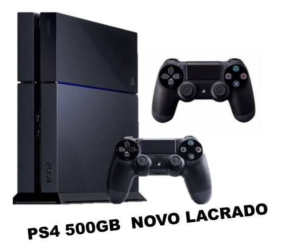Ps4 Playstation 4 500gb 2 Controles Original Sem Fio Bi Volt