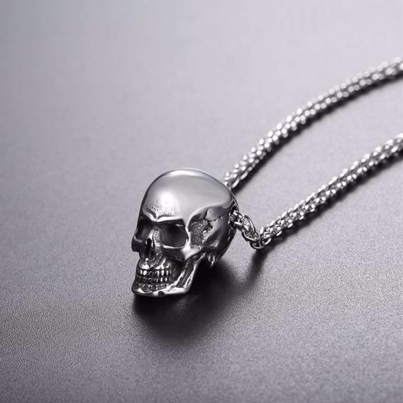 Colar Masculino Homem Namorado Caveira Crânio Esqueleto 1034