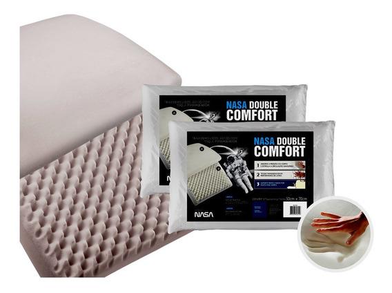 2 Travesseiros Fibrasca Nasa Double Comfort 3 50x70