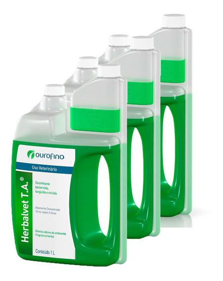 Kit 3 Herbalvet Desinfetante Bactericida Ourofino - 1l