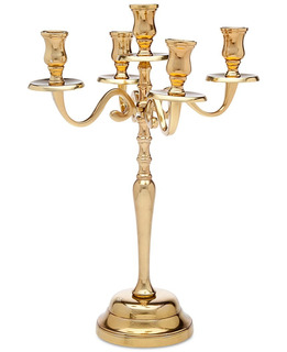 Candelabro 41 Cms De Altura Acabado Dorado Candledreams Cand