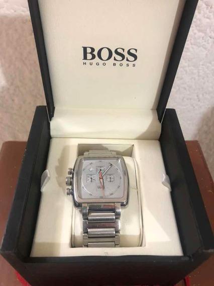 Reloj Hugo Boss Color Plateado Original Con Caja